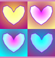 love postcard with four colorful contour hearts vector image