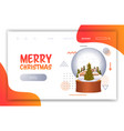 merry christmas happy new year holiday celebration vector image vector image