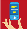 online mobile shopping background vector image vector image
