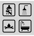 Plumbing Flat Squared Icon vector image