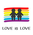 rainbow flag backdrop lgbt gay symbol love is vector image vector image
