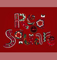 red square lettering vector image vector image