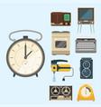 retro vintage household appliances vector image vector image