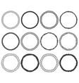 rope circle frame bundle hand drawn wreath vector image