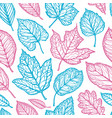 seamless floral pattern leaves nature backdrop vector image