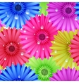 Seamless flower gerbera patter vector image