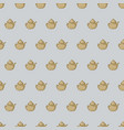 seamless pattern with teapot vector image