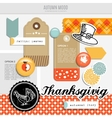 set autumn fall scrapbooking and web vector image vector image