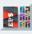 set covers for a report in a modern style of vector image vector image