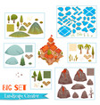 set of landscape elements vector image