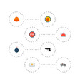 set of security icons flat style symbols with vector image