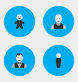 set of simple profile icons vector image