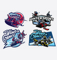 set of winter sport games badge vector image vector image