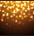 shiny stars background vector image vector image