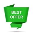 speech bubble best offer design element sign vector image vector image