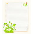 spring green paper board vector image
