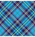 Tartan seamless patterndiagonal backgroundBlue vector image