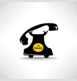 taxi sign call taxi icon retro handset with vector image vector image