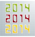 The Fifth Set of Colored Figures New Year vector image vector image