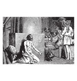 the prodigal son returns to his family vintage vector image vector image