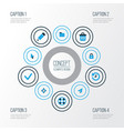user colorful icons set collection of closed vector image