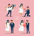 wedding couple bride vector image vector image