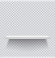 white wooden shelves template for your projects vector image