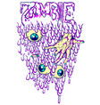 zombie eyes vector image vector image