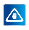 hand stop symbol icon vector image