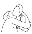 outline husband kissing his wife on her neck vector image