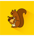 autumn squirrel acorn animal season vector image