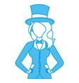 beautiful magician woman cartoon vector image