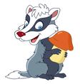 happy cartoon badger vector image