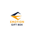 sign emotion gift box vector image