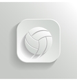 Volleyball icon - white app button vector image