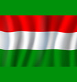 3d realistic wavy hungary flag national symbol vector image