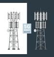 5g network mast base stations isolated set
