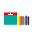 a set of multi-colored wax crayons for creativity vector image