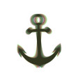 anchor icon colorful icon shaked with vector image vector image