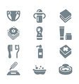 babys things icon set gray vector image vector image