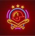 basketball neon icon helmet vector image vector image