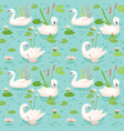 Beautiful seamless pattern with white swans