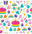 birthday surprise seamless pattern background vector image vector image