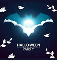 cartoon paper landscape halloween bat vector image