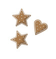 christmas ginger bread flat on white background vector image