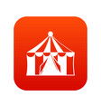 circus tent icon digital red vector image vector image