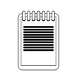 clipboard document symbol in black and white vector image vector image