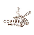 coffee house cafe or cafeteria isolated icon vector image vector image
