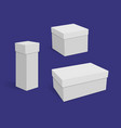 collection of various white blank boxes on dark vector image