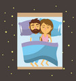 couple sleeping together with good dreams vector image
